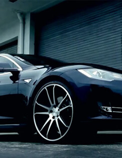 Tesla Model S on Concavo CW-S5 Deep Concave Wheels
