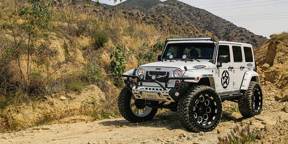 Off-Road Wheels on Jeep Wrangler